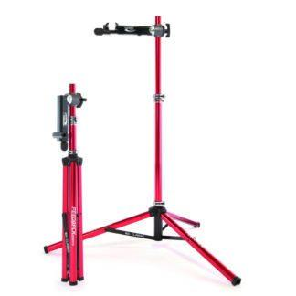 bicycle repair stand folded and set up