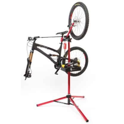 bike and wheel in bike stand