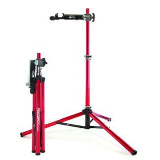 bicycle repair stand folded and open