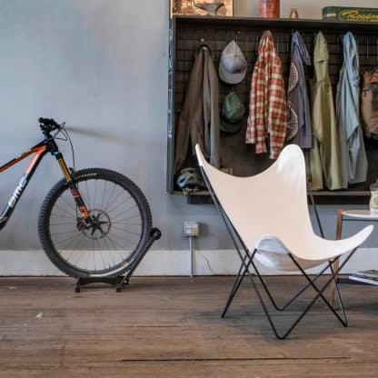 bike stand in apartment