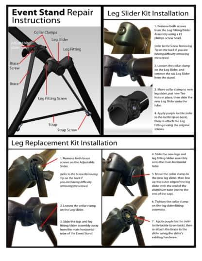 leg replacement kit installation guide