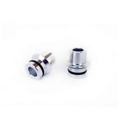 silver thru axle adapters