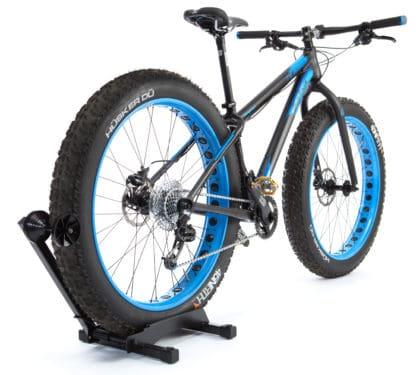 fat bike in bike rack