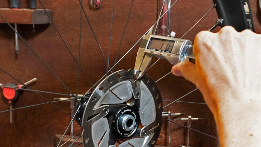 measuring rotor wear with caliper