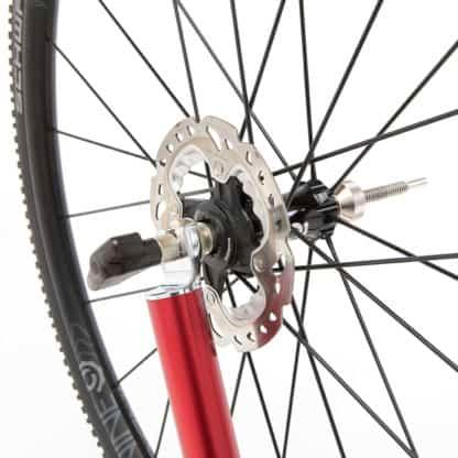 bicycle wheel in stand