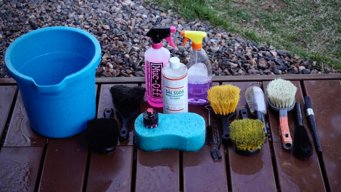 Bike wash supplies