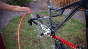 Cleaning a bike