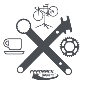 feedback sports tool icon with lockring tool and pedal wrench crossed