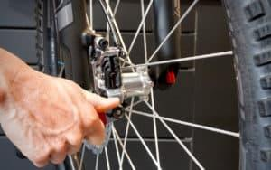 Servicing a bicycle